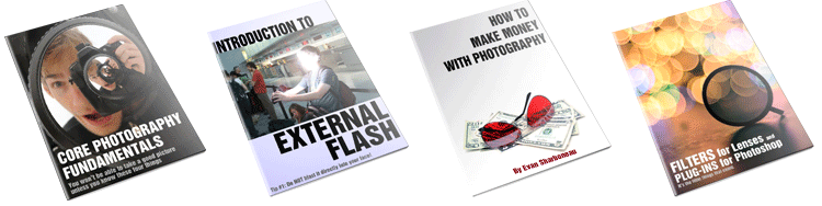 core photography fundamentals - external flash - make money with photography - fliters for lenses and plug-ins for photoshop