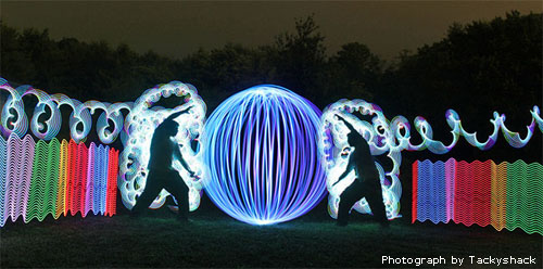 orb light painting long exposure