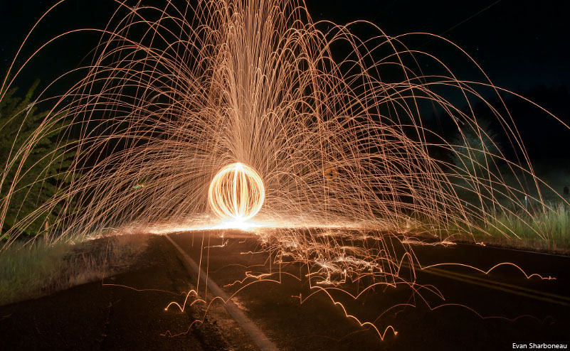 Steel Wool Long Exposure Light Painting Photography